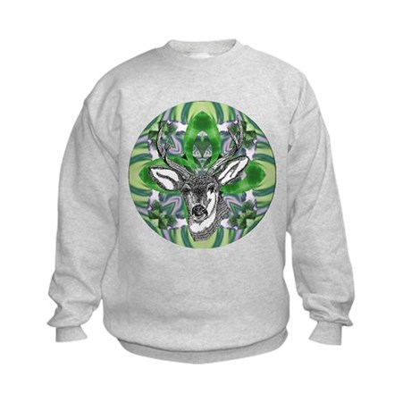 Kaliedoscope Deer Kids Sweatshirt