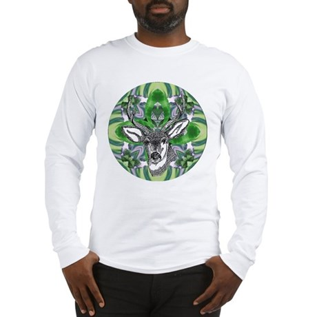 Kaliedoscope Deer Long Sleeve T-Shirt
