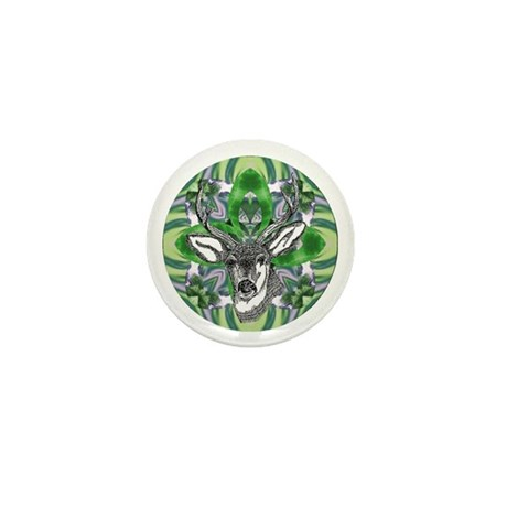 Kaliedoscope Deer Mini Button