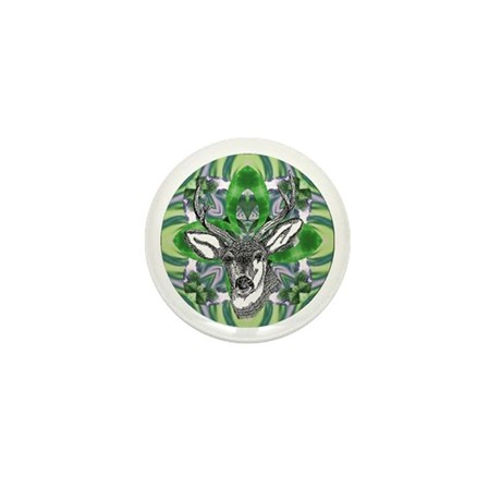 Kaliedoscope Deer Mini Button (10 pack)