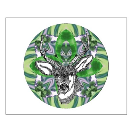 Kaliedoscope Deer Small Poster