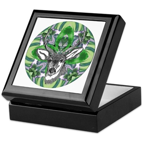 Kaliedoscope Deer Keepsake Box