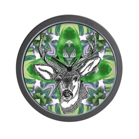 Kaliedoscope Deer Wall Clock
