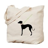 Black Dog w/ Flower Tote Bag
