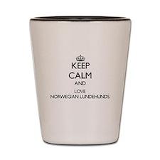 Keep calm and love Norwegian Lundehunds Shot Glass