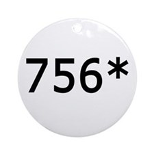 756 Asterisk Home Run Record Ornament (Round)