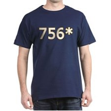 756 Asterisk Home Run Record T-Shirt 8 Colors