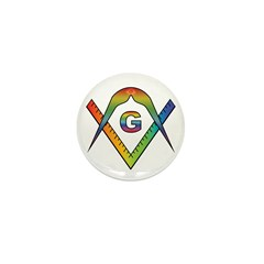 Masonic Rainbow & Eye S&C Mini Button (10 pack)