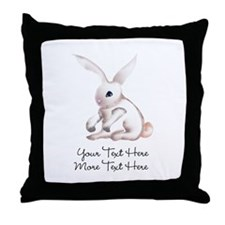 Your Text Here Honey Bunny Throw Pillow