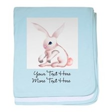 Your Text Here Honey Bunny baby blanket