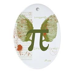 Pi Art Ornament (Oval)