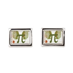 Pi Art Rectangular Cufflinks