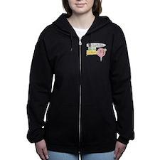birthdayonB.png Women's Zip Hoodie