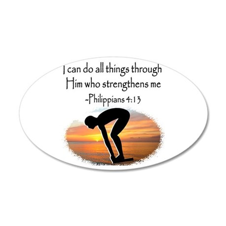 SWIMMER BLESSING 20x12 Oval Wall Decal