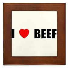 I Love Beef Framed Tile