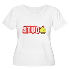 Stud Muffin, Cute Funny Cupcake Plus Size T-Shirt