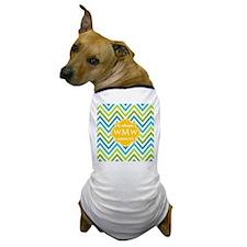 Family Monogram Chevron Stripes Dog T-Shirt
