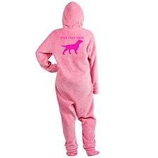 Pink Flat Coated Retriever (Custom) Footed Pajamas