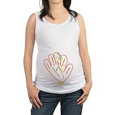 Hand Turkey Maternity Tank Top