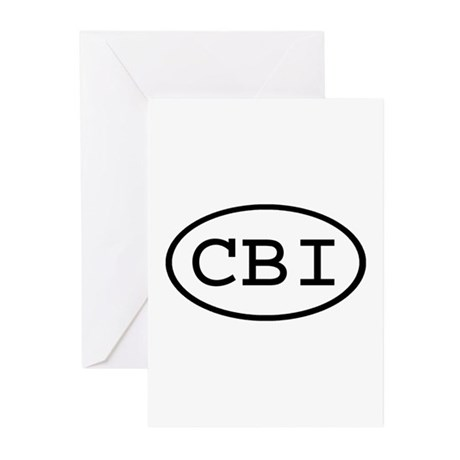 CBI Oval Greeting Cards (Pk of 10)
