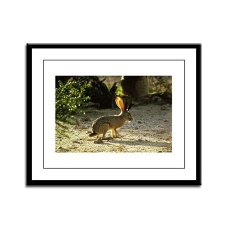 Texas Jackolope Framed Panel Print