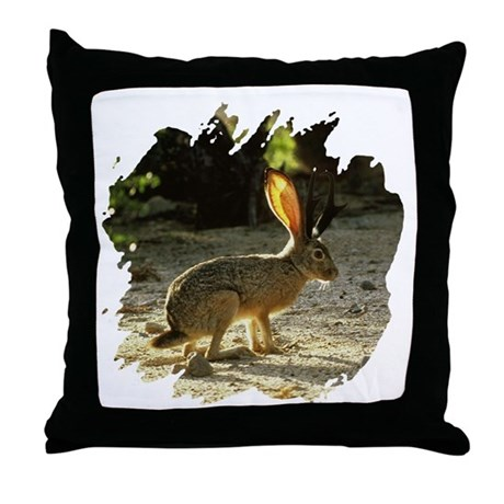 Texas Jackolope Throw Pillow