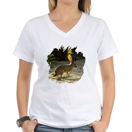 Texas Jackolope Women's V-Neck T-Shirt