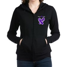 Allergic to Heels Purple - White Women's Zip Hoodi