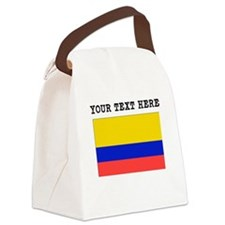 Custom Colombia Flag Canvas Lunch Bag