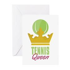 Tennis King Greeting Cards