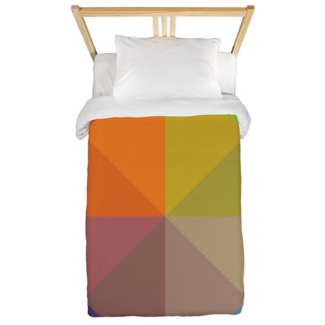 Geometric Triangles Squares Twin Duvet