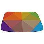 Geometric Triangles Squares Bathmat