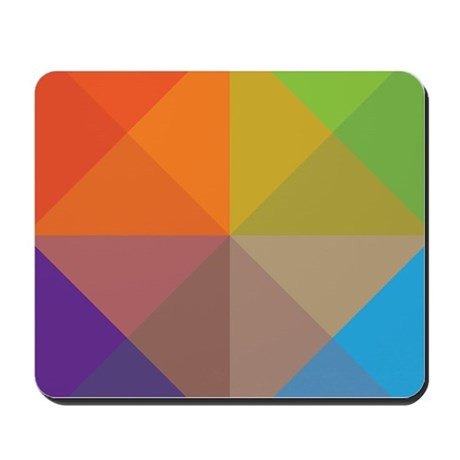 Geometric Triangles Squares Mousepad