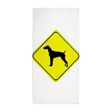 German short-Haired Pointer Crossing Beach Towel