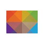 Stylish Triange Square Geometric 5'x7'Area Rug