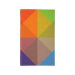 Stylish Triange Square Geometric 3'x5' Area Rug