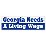 Georgia Living Wage Bumper Sticker