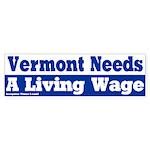 Vermont Living Wage Bumper Sticker