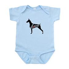 Doberman Love Infant Bodysuit