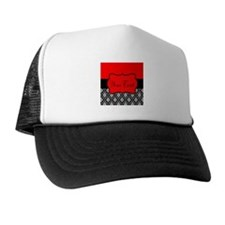 Personalizable Red Black Trucker Hat