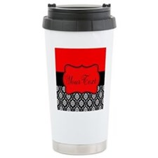 Personalizable Red Black Travel Mug