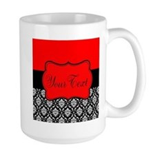 Personalizable Red Black Mugs