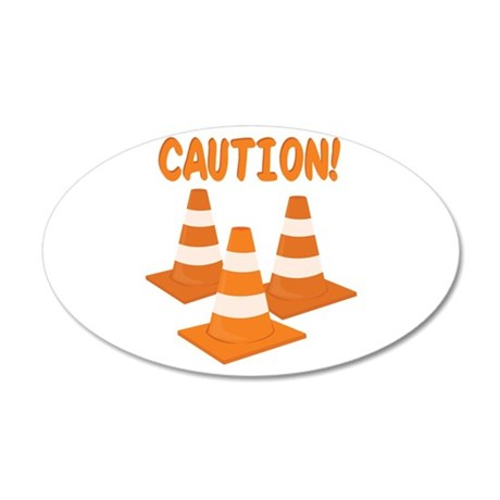 Caution Wall Decal