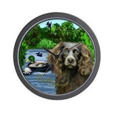 Boykin Spaniel Dog Lake Wall Clock