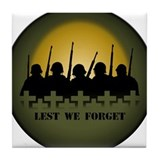 Remembrance Day Coaster Lest we Forget War