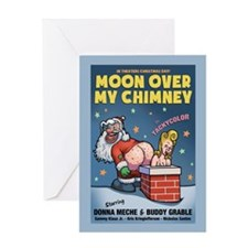 Moon Over My Chimney Greeting Card