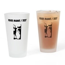 Custom Cat And Deer Silhouette Drinking Glass
