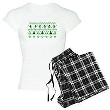 Sasquatch Ugly Christmas Sweater Pajamas