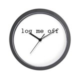 log me off Wall Clock