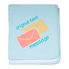 Text Message baby blanket